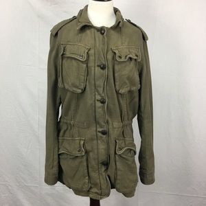 Free People Olive Green Utility Jacket